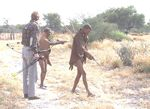 Peter tracking kudu with Bushmen
